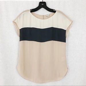 Babaton 100% Silk Color Block Blouse   XSmall